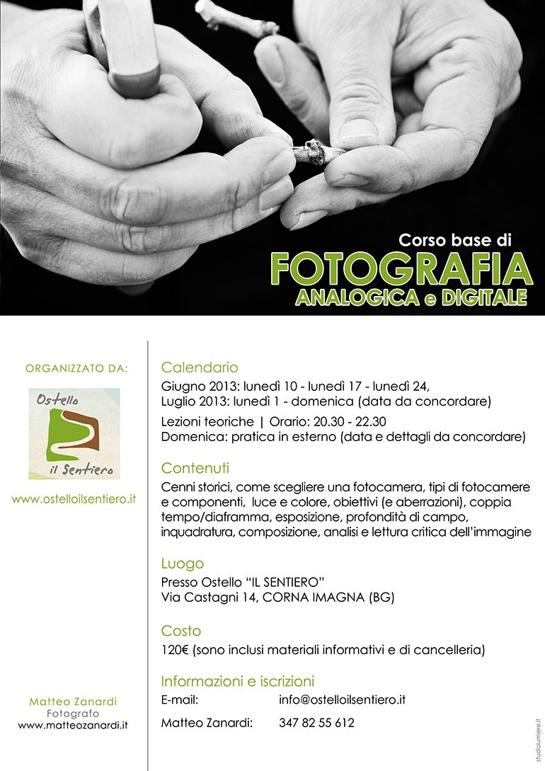 Corso base di fotografia analogica e digitale - Corna Imagna