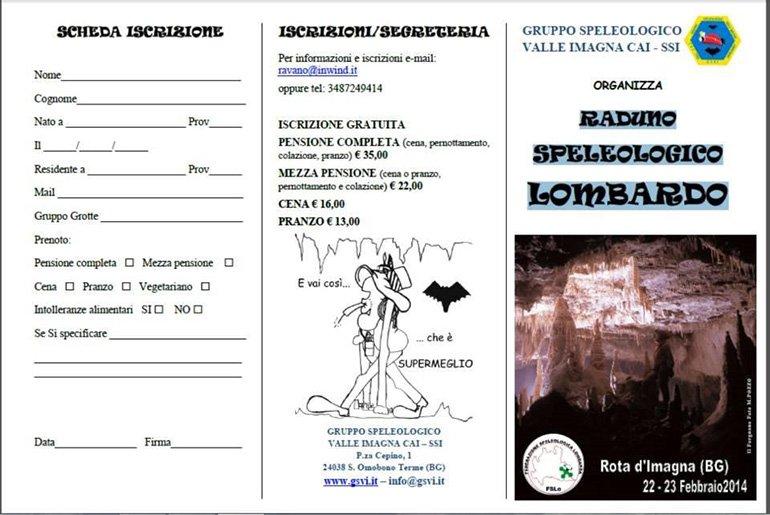 Brochure Raduno Speleo Front