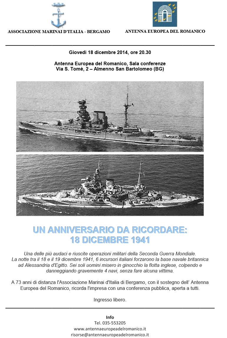 Un anniversario da ricordare: 18 dicembre 1941