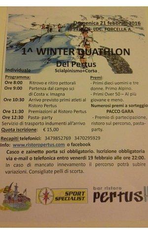 1 winter duathlon - Pertus
