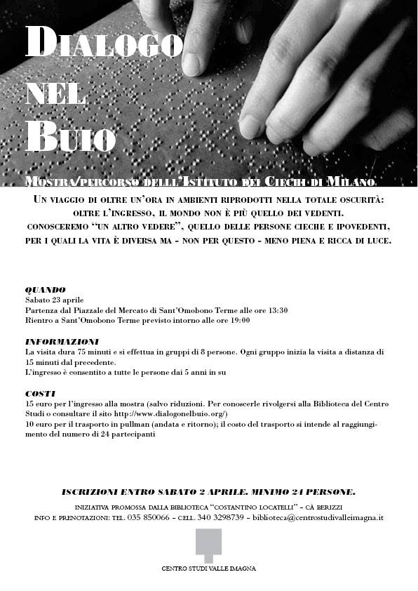 Dialogo nel buio - visita all'istituto dei ciechi di Milano