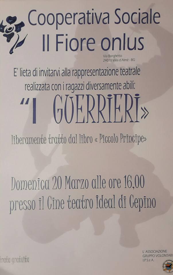 Spettacolo i guerrieri . teatro ideal di Cepino