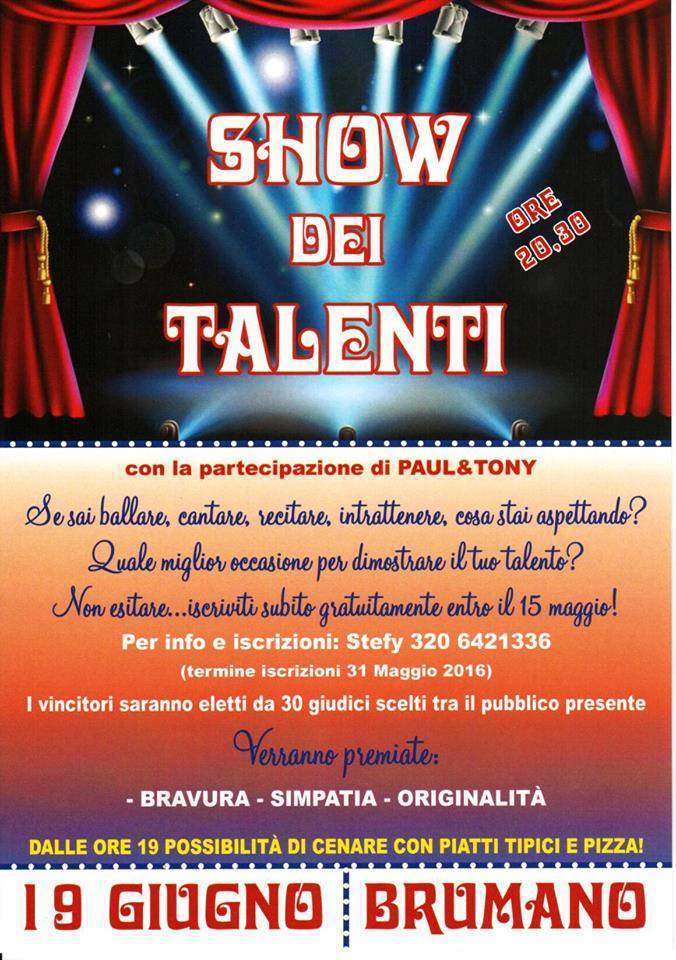 Show dei talenti a Brumano