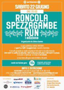 Roncola Spezzagambe Run - Sport che passione 2019