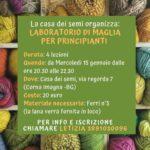 Corsi Casa dei Semi 2020 - laboratorio di maglia per principianti