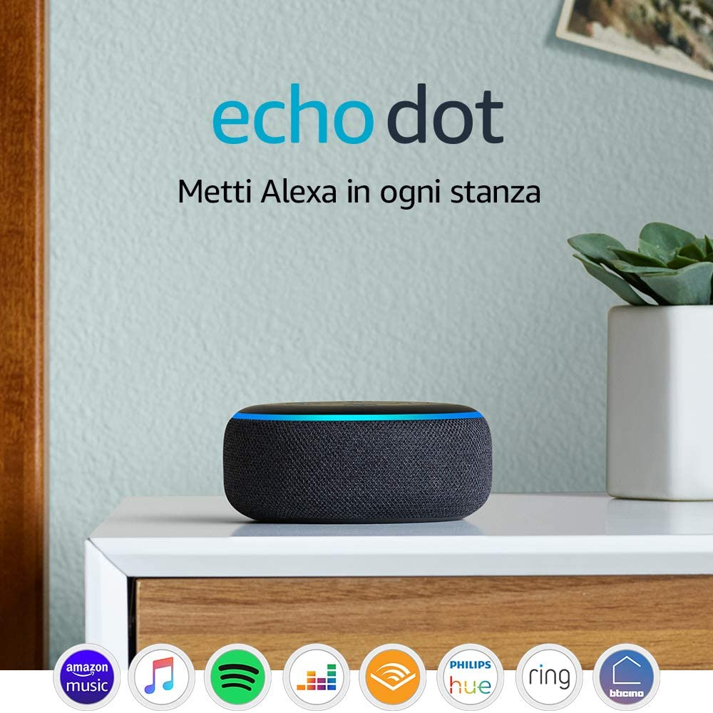 echo dot altoparlante alexa
